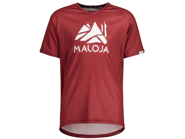 Maloja SanetschM. Multi 1/2 Maillot multisport à manches courtes Homme, red monk